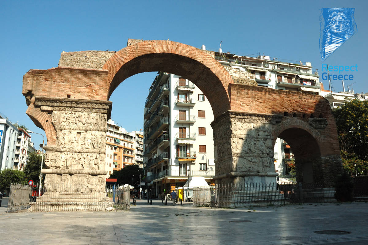 arch of galerius in thessaloniki, greece, unesco heritage site