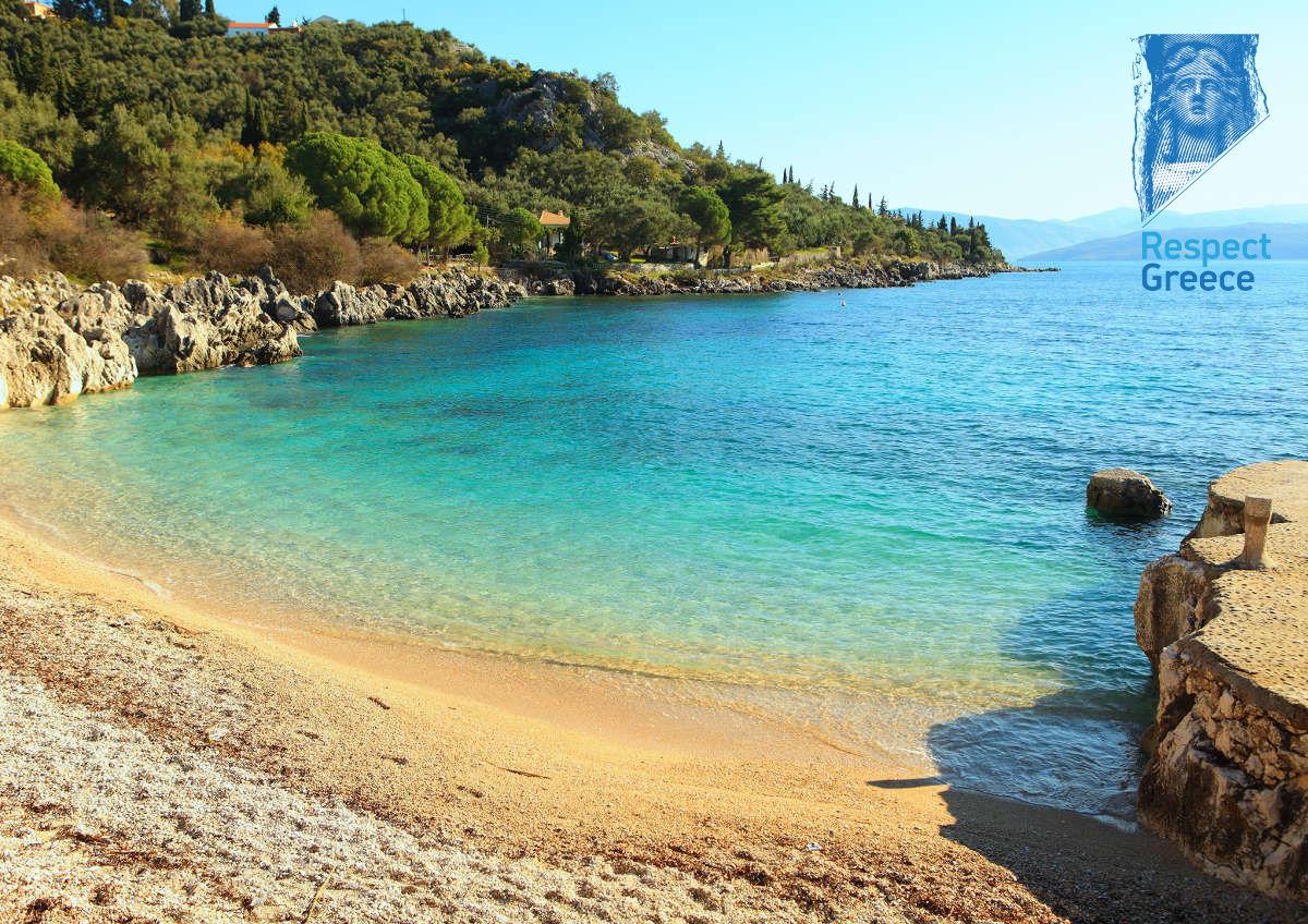beach nissaki at corfu island